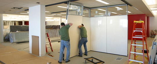 Movable Wall Installation Glide Installations